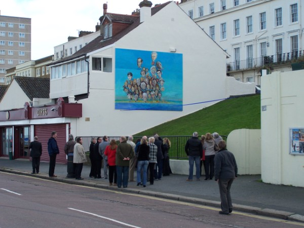 Famous Faces Mural, Herne Bay Seafront