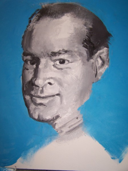 Bob Hope before the colour goes on