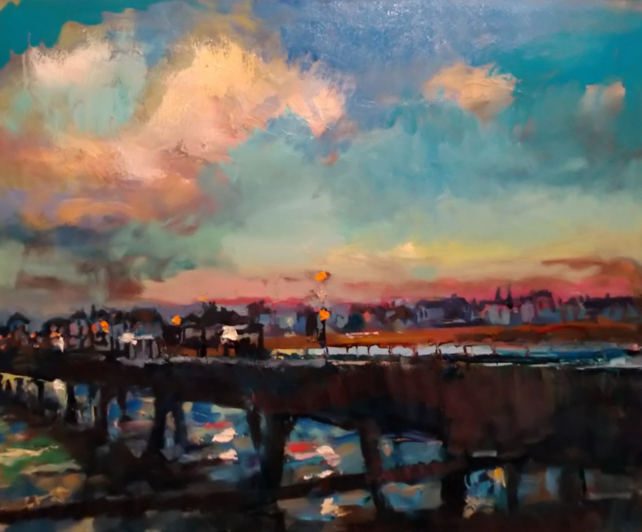 Deal Seafront Sunset 16x20
