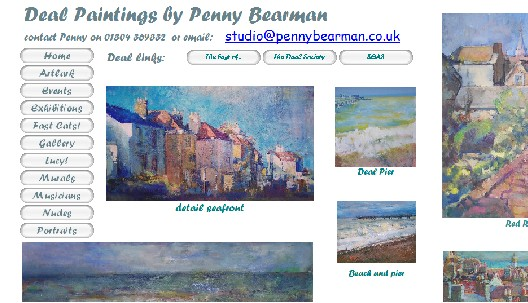 Exhibition of rooftop paintings inspired by Deal in Kent