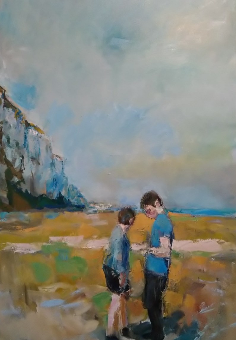 Tall Cliff and Youth 40x20