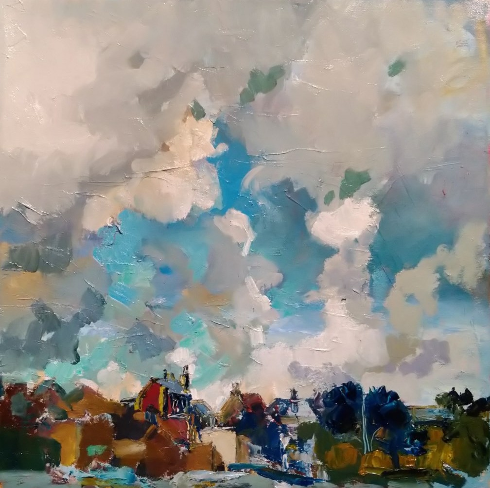 Clouds over Deal Carpark 16x16