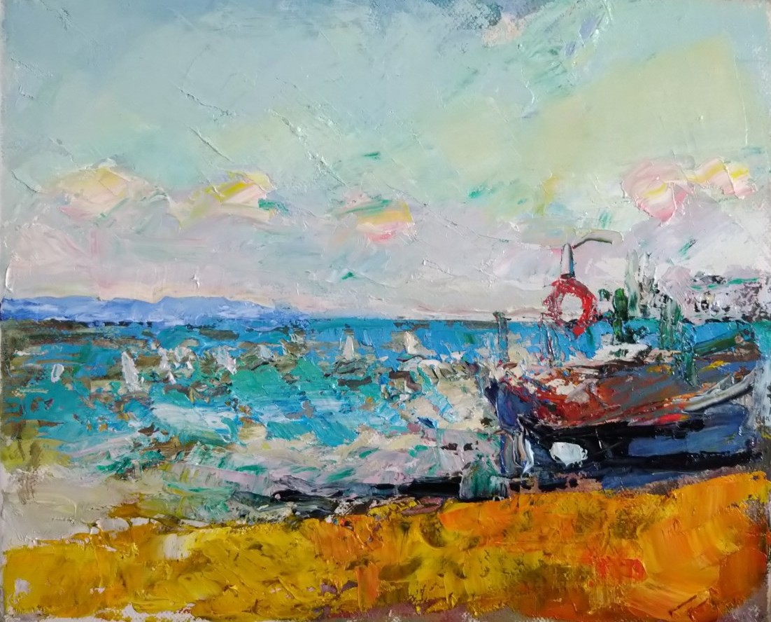 Deal Boat and France 10x12