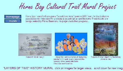 Herne Bay Cultural trail to be opened in Spring 2009 - Murals by Penny Bearman