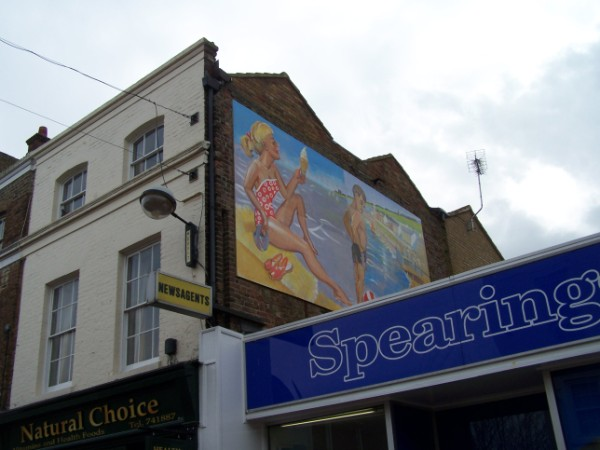 Postcard from Herne Bay mural